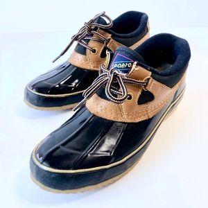 Sporto blue rubber rain duck ankle boots size 7